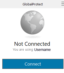 GlobalProtect Connection Screen