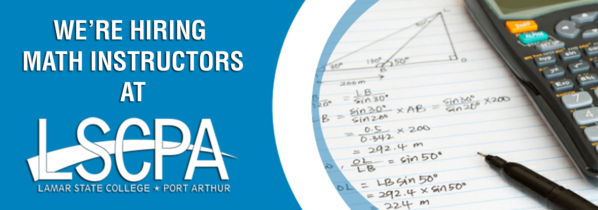 We're Looking for Math Instructors!