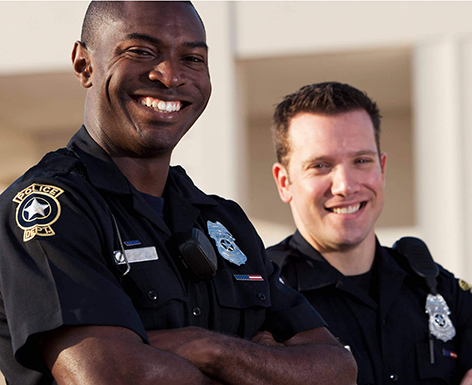 Two police officers.